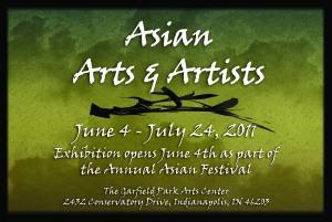 Asian Arts & Artists Exhibit postcard