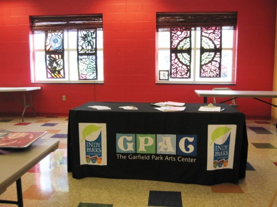 GPAC table in front of papercuts