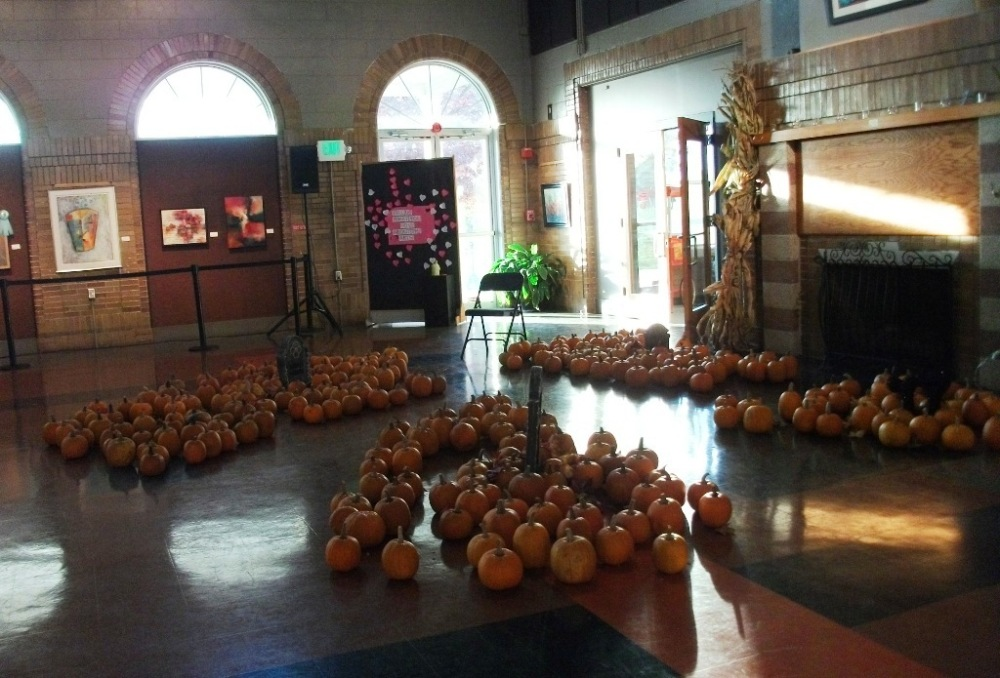 Pumpkins waiting to be decorated