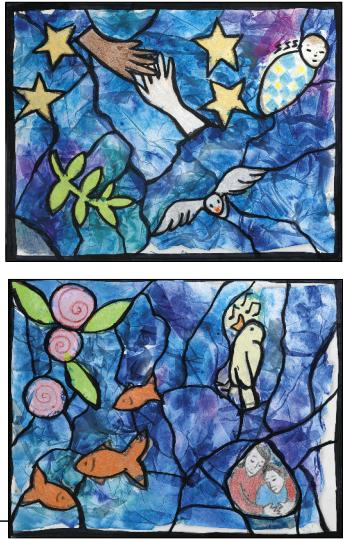 Arts For All Tissue Paper Stained Glass Windows The