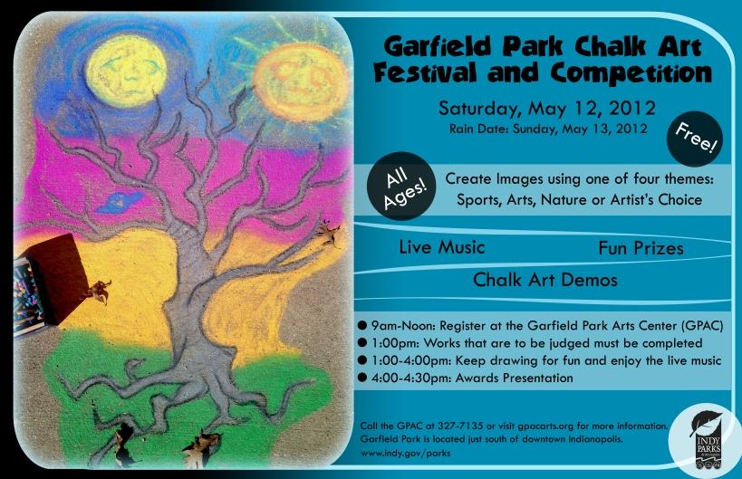 Chalk Fest poster 2012