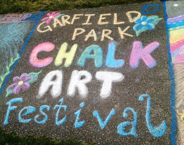 Chalk Festival art