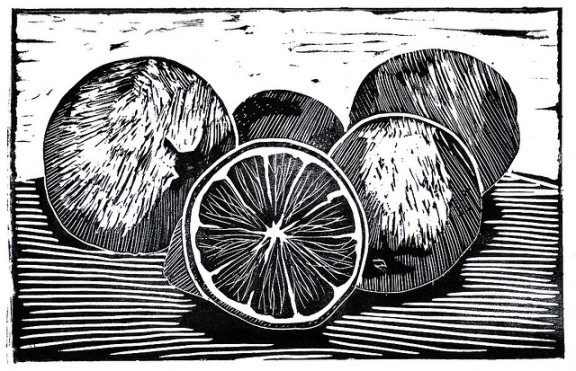 """Lemons Linocut"" by madèo on flickr"