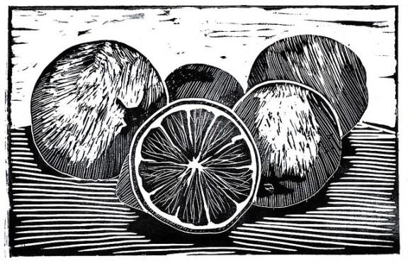 """Lemons Linocut"" by madèo on flickr"